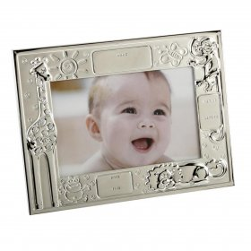 2 Tone Silver Plated Data Frame with Animals