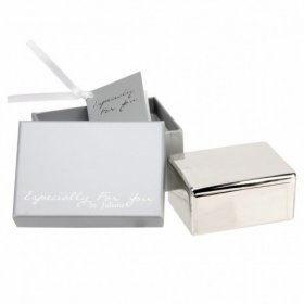 Especially For You Silver Plated Keepsake Box