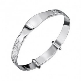 Jo for Girls ID Sterling Silver Bangle Claddagh