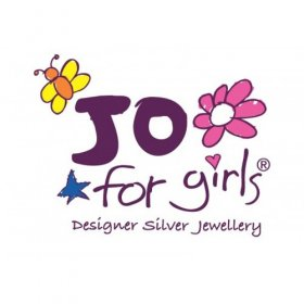 Jo for Girls Sterling Silver and Sparkling Cubic Zirconia Cross Pendant on Chain