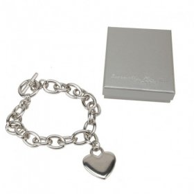 Especially For You - Silver Plated Charm Bracelet with Engravable Heart