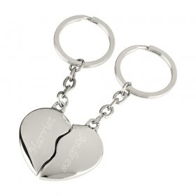 Personalised Joining Heart Keyrings