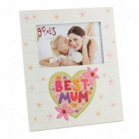 "Blue Eyed Sun Gorgeous Collection Photo Frame ""Best Mum"" 6"" x 4"""