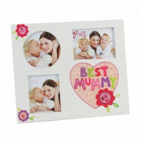"Blue Eyed Sun Gorgeous Collection 3 Aperture Frame ""Best Mummy"""