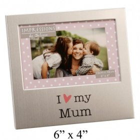 "Juliana Aluminium Photo Frame 4"" x 6"" - Mum"