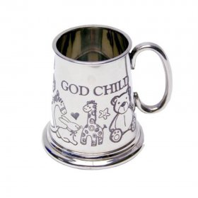 Baby Mug - Pewter God Child - GIFT BOXED