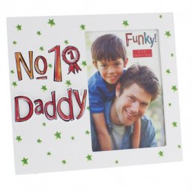 "Blue Eyed Sun Photo Frame ""No. 1 Dad"" 4"" x 6"""