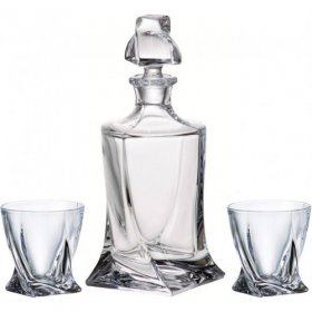 Crystal - Decanter and 2 Tumblers