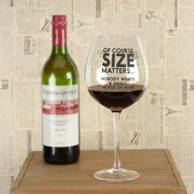 Ministry of Chaps XL Wine Glass