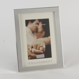 Amore Silver Plated & Mirror Box Frame 4