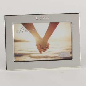 Amore Silver Plated Frame Debossed Words 6