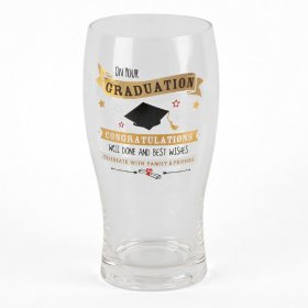 Signography Gold Beer Glass - Graduation